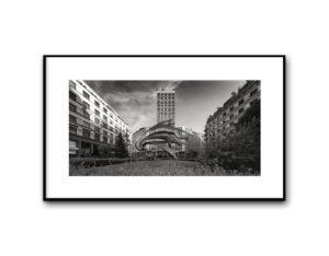 #16050416, Torre Martini e monumento al Carabiniere, Piazza Diaz, Milano, 2016, image 40x80 cm, cotton paper